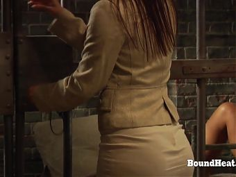 Lesbian Slave In Prison Sniffing Madames Panties